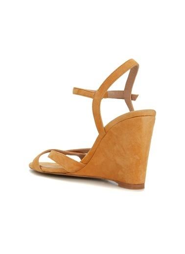 Divarese Divarese 5025199 Kalın Topuklu Hardal Renkli Kadın Sandalet Hardal